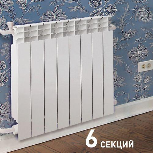 008 Радиатор биметаллический ОАЗИС 500/80/10