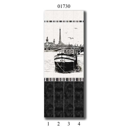 """01730 Дизайн-панели PANDA """"Париж"""" Панно 4шт(8,1м2=12шт)"""
