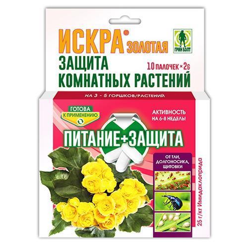 01-439 ИСКРА Золотая палочки для защиты комнатных растений (уп 10 шт)