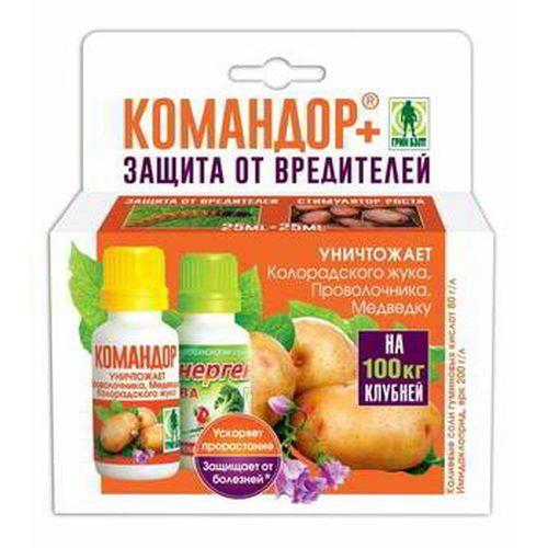 01-917 Командор+ для обраб.клубней картофеля (2 фл по 25 мл) в пакете