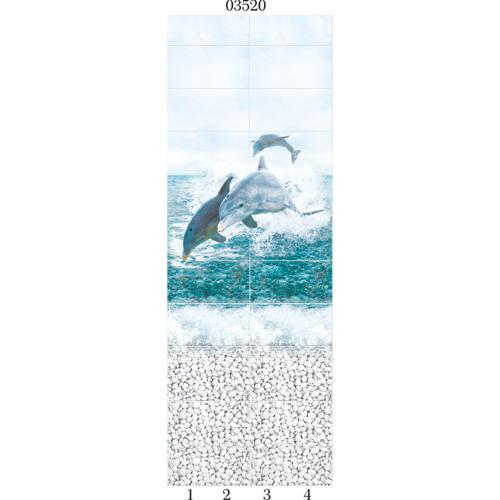 """03520 Дизайн-панели PANDA """"Море"""" Панно 4шт(8,1м2=12шт)"""