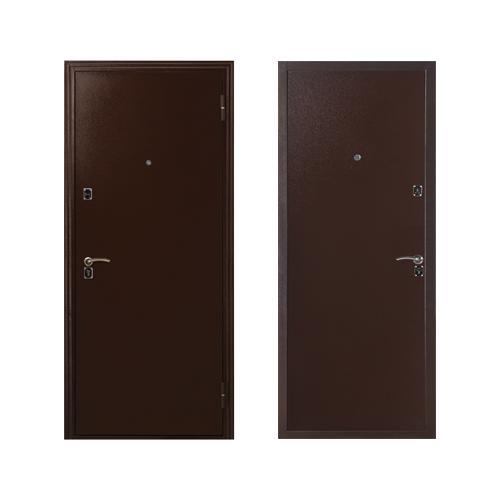 134 Дверь мет. фурн.хром Мет/Мет Бронза(ПСБ)  970*2050мм П