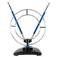 Антенна комнатная ДМВ+МВ пассивная с кольцом Эфир SE-910 (синие усы) 1м кабель 1м