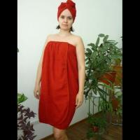 Банный комплект женский бордо