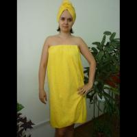 Банный комплект женский желтый
