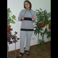 """Брюки """"Спортивные"""" серые р.46"""
