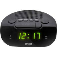 Часы-будильник с РАДИО MYSTERY MCR-21 black&green