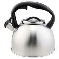 Чайник из нерж стали со свистком серия Lacrima, 2,5 литра, матовый, Mallony арт.003977