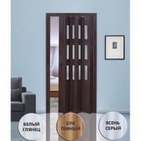 Дверь раскладывающаяся  Фаворит белый глянец (с декоративными вставками) (840мм*2005мм)