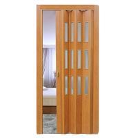 Дверь раскладывающаяся  Фаворит миланский орех  (с декоративными вставками) (840мм*2005мм)