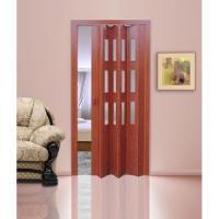 Дверь раскладывающаяся  Фаворит вишня (с декоративными вставками) (840мм*2005мм)