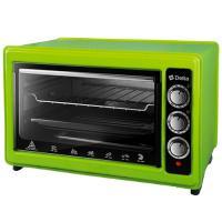 Эл. духовка DELTA с термостатом D-0123 зеленая, 1300Вт., 37 литров, 2 нагрев.элемента, 1 противень