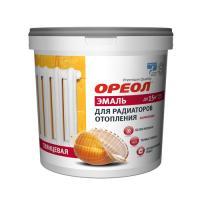 Эмаль Ореол белая акриловая для радиаторов МАТОВАЯ 0,8 кг.