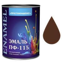 "Эмаль ""Простокрашено!"" шоколадная БАУ 0,9кг (8108)"