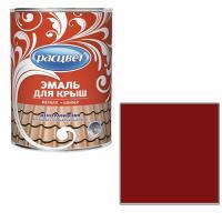 """Эмаль """"Расцвет"""" для крыш красно - коричневая 8 кг. (3624)"""