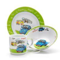 Ф Набор детский 3пр Машины 2 (тарелка 18см, салатник 15см, кружка 230мл) под/уп C425#
