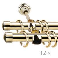 Карниз кованый Ле-Гранд d16 мм гладкий 1,6м золото-глянец