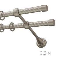 Карниз кованый Ле-Гранд d16 мм Твист 3,2м серебр-матовый