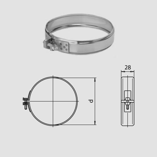 Хомут обжимной  (430/0,5мм) D130 арт. fk09.130.F
