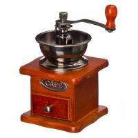 Кофемолка с деревянным основанием, металл, 10x10х17,5см (827-001)