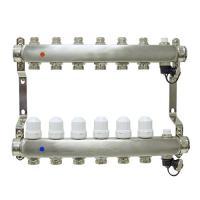 Коллекторная группа ONDO нерж сталь 10 вых. в сборе с расходомерами и термостатическими клапанами