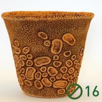 Коралл горшок глиняный (диаметр 16 тонированная) №2