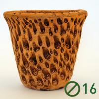Кратер горшок глиняный (диаметр 16 тонированная) №2