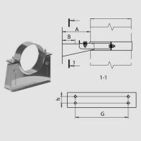 Кронштейн раздвижной №1 (430/1,0 мм) D250 арт. fk03.250.F