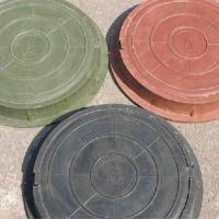 Люк ПП садовый красный (до 1,5тонны)Ф755мм*60мм вес 20 кг_Т