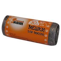 Мешки д/мусора 30л (30шт./рул.) ПНД (черные) арт.310101