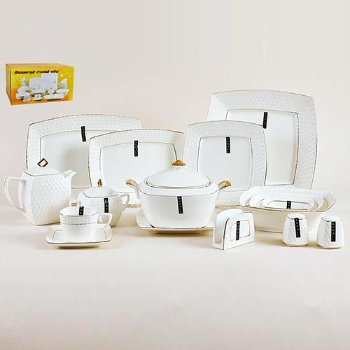 Набор столовый 6/49 ф.квадрат СPT0130-A снежная королева