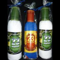 """Полотенце махровое """"Бутылка"""" 35*70 см василек"""