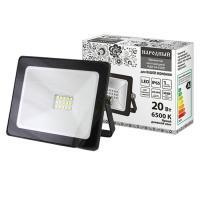 Прожектор светодиодный СДО-04-020Н 20 Вт, 6500 К, IP65, черный, Народный (SQ0336-0261)