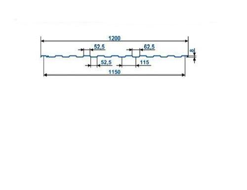 Профнастил оцинкованный С-8 (2,0 х 1.2 х 0.40)
