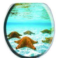 Сиденье д/у мягкое   с рис.  Морские звезды  (В-14)
