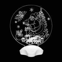 """Светильник акриловый """"Дедушка мороз и подарки"""" (003147)"""