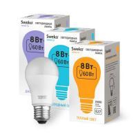 Светодиодная лампа 42 серия 42LED-A55-8W-230-4000K-E27 (38424)