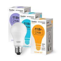 Светодиодная лампа Sweko 42 серия 42LED-A60-11W-230-6500K-E27 (38559)