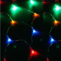 Светодиодный сетка KOC_NET320LED_RGB (320 светодиодов, мультиколор, 2,3*2,1м, 8 режимов мигания)