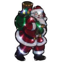 """Световое панно """"Дед мороз с мешком подарков"""" (986103)"""