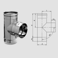Тройник-Д 90 гр. (430/0,5мм) D130 арт. fm12.130.1.F
