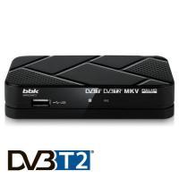 Цифровой телевизионный ресивер BBK, Модель SMP023HDT2 (цвет черный)