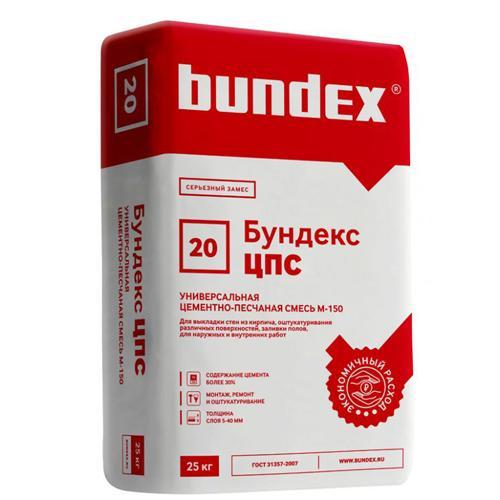 """Универсальная цементная смесь М150 """"Бундекс ЦПС""""  25кг"""