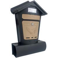 Ящик почтовый ЭЛИТ черный с бежевым
