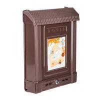 Ящик почтовый с замком (декор) (коричневый) (уп.7) М6434
