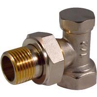 """Запорный клапан для радиатора угловой 1/2"""" CTM"""
