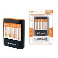 Зарядное устройство 36044Н (3600 mA 4 слота АА/ААА 4 кан.+4xAA2500 USB) TDM (SQ1702-0101)